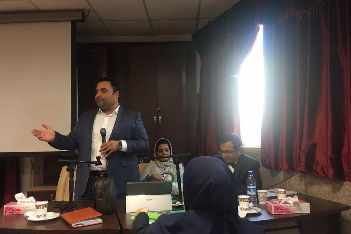 سخنرانی در کارگاه سه روزه درمانگران اختلالات جنسی بیمارستان خاتم الانبیا